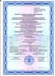 Приложение №1 к лицензии на осуществление обр деятельности
